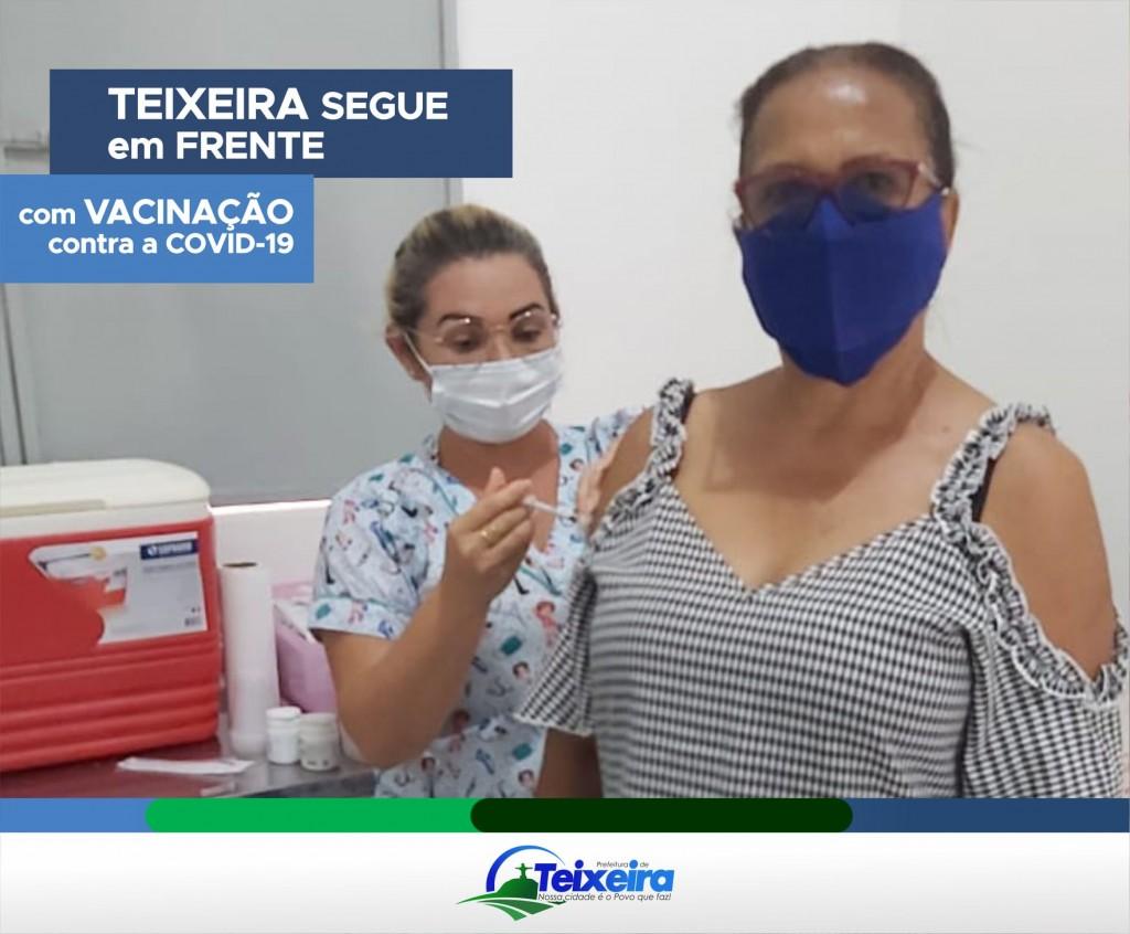 TEIXEIRA SEGUE EM FRENTE COM A VACINAÇÃO CONTRA A COVID-19