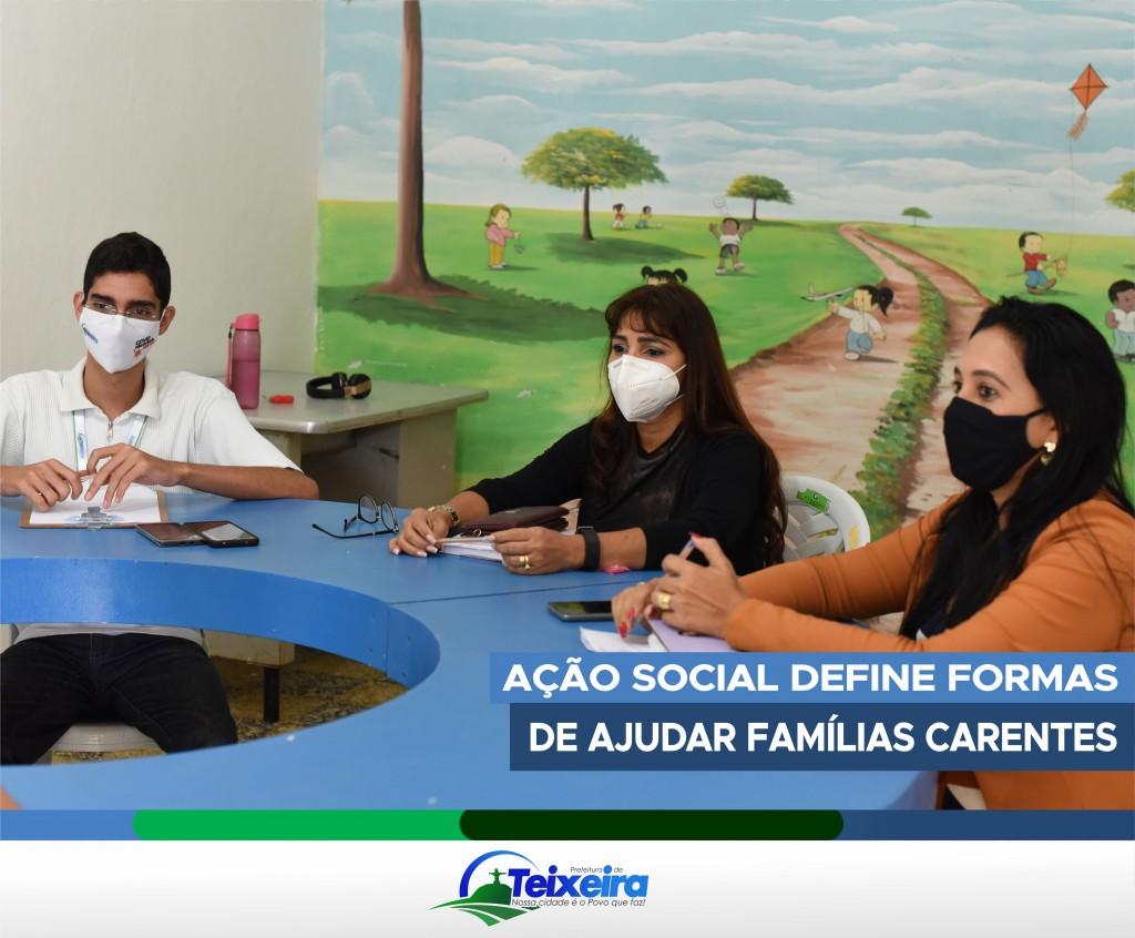 AÇÃO SOCIAL SE REUNE PARA DEFINIR AÇÕES JUNTO AS FAMILIAS CARENTES