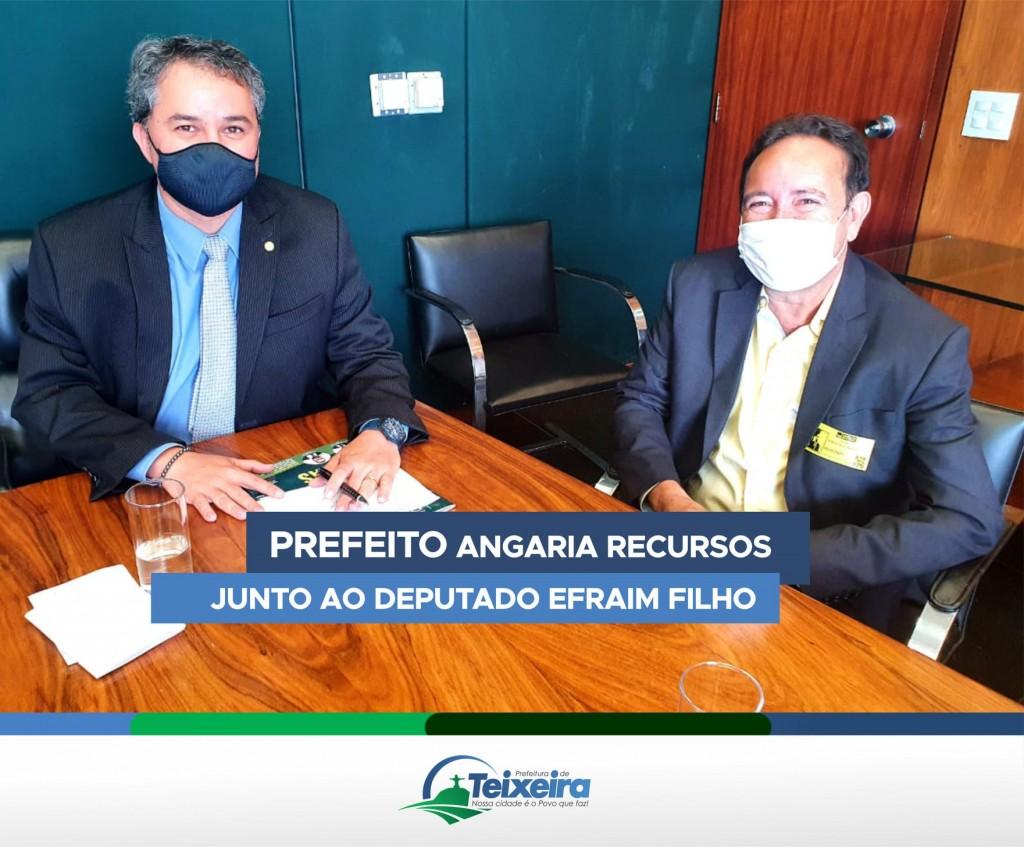 PREFEITO ANGARIA RECURSOS JUNTO AO DEPUTADO EFRAIM FILHO